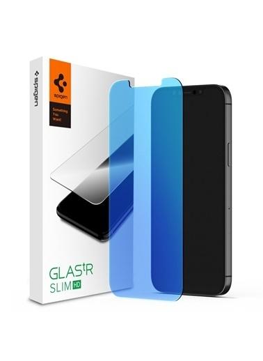 Spigen iPhone 12 Mini Ekran Koruyucu Glas tR Antiblue HD Renkli
